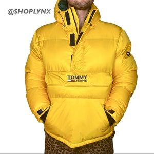 Tommy Jeans Anorak Puffer Jacket in Yellow